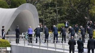 広島 原爆慰霊碑 G7外相が献花へ